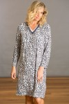 YUU Sleepwear Ladies Leopard Sleep Dress